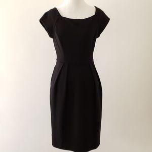Diane von Furstenberg Anka wool blend black sheath